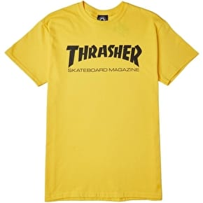 Thrasher Skate Mag Logo T-Shirt - Yellow