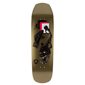 Welcome Face Of A Lover On Banshee 90 Skateboard Deck - Gold Dip 9