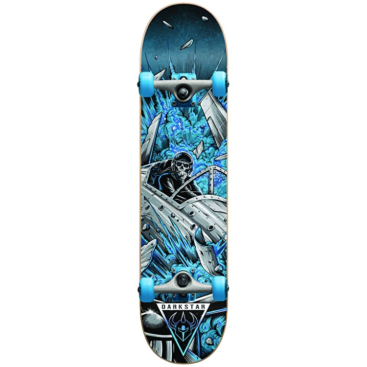Darkstar Jet Fighter Youth Complete Skateboard - Blue 6.75""