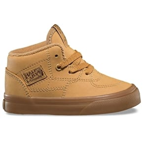 Vans Half Cab Toddler Skate Shoes - (Vansbuck) Light Gum/Mono