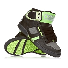 Osiris NYC 83 Kids Skate Shoes - Black/Charcoal/Green
