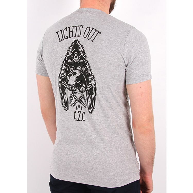 Grind Zombie Lights Out T shirt - Heather Grey