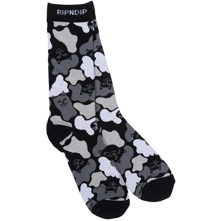 RIPNDIP Blizzard Socks - Black