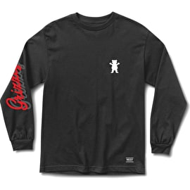 Grizzly Cursive Long Sleeve T Shirt - Black
