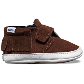 Vans Chukka V Moc Crib Shoes - (Suede) Chestnut
