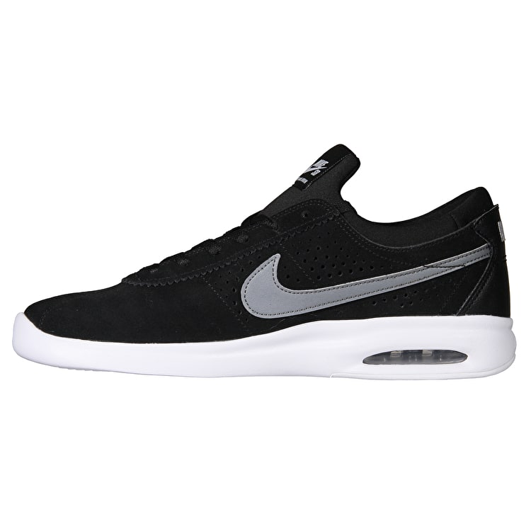 Nike SB Air Max Bruin Vapor Skate Shoes - Black/Cool Grey