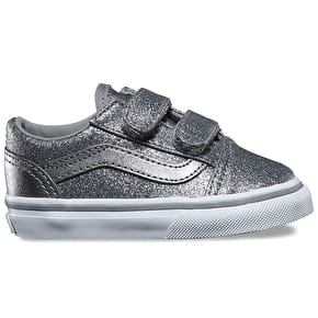 Vans Old Skool V Skate Shoes - (Glitter & Metallic) Frost Grey
