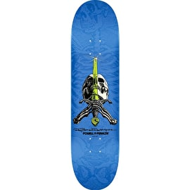 Powell Peralta Ray Rodriguez Skull & Sword Skateboard Deck - Blue 8.0