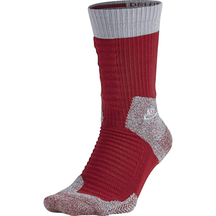 Nike SB Elite Crew Socks - Team Red/Wolf Grey