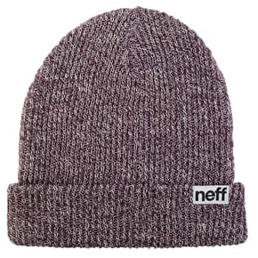 Neff Fold Heather Beanie - Port/White