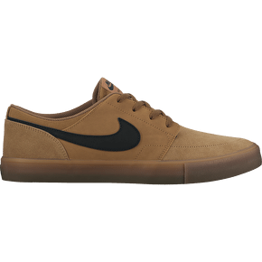 Nike SB Portmore II Solar Skate Shoes - Golden Beige/Black
