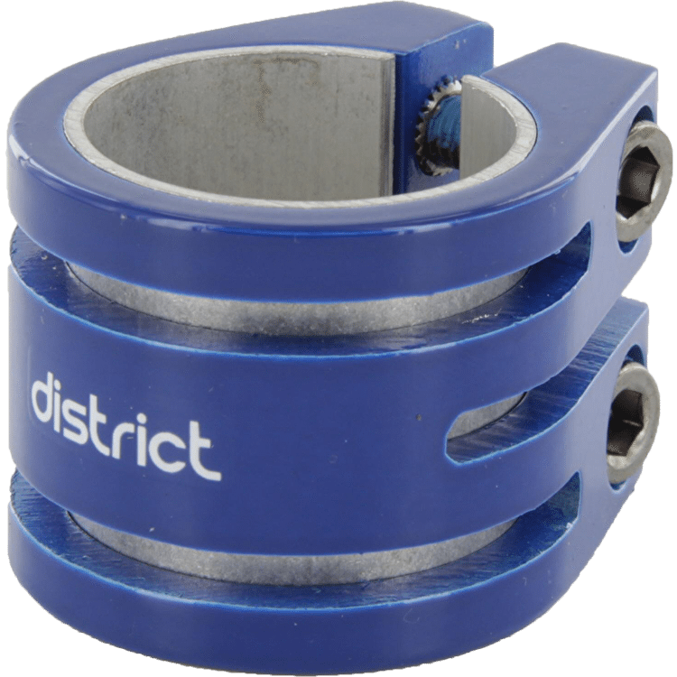 District Double Lightweight Collar Clamp V2 - Blue