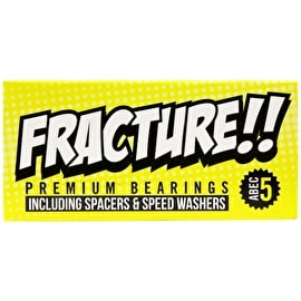 Fracture Premium Skateboard Bearings - Yellow ABEC 5
