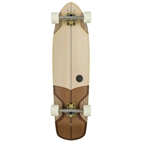 Globe Stubby Complete Longboard - White/Brown 36.75
