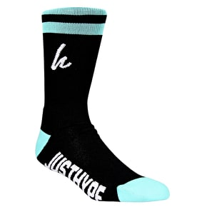 Hype Tramline Socks - Black/Teal/White
