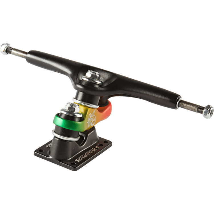 "Gullwing Sidewinder 10"" Longboard Trucks - Black/Rasta (Pair)"