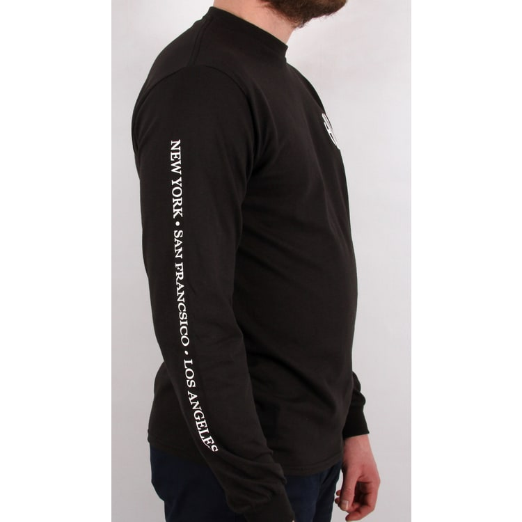 Huf Regional Long Sleeve T shirt - Black