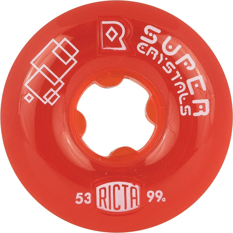 Ricta Super Crystals 99a Skateboard Wheels - Red 53mm