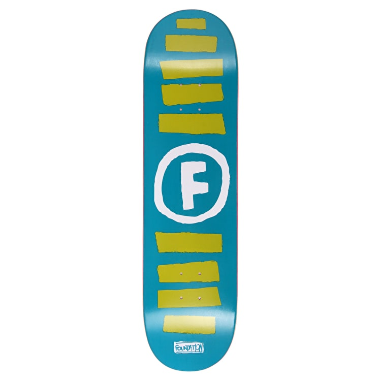 Foundation Doodle Stripe Skateboard Deck - Blue 8.25""