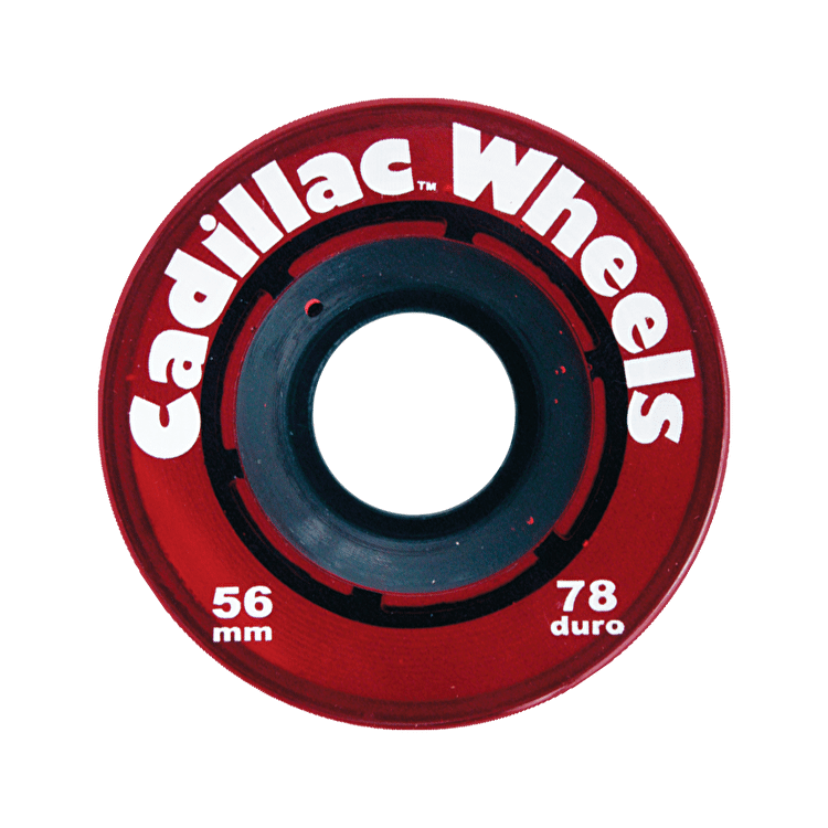 Cadillac Classic 56mm 78a Longboard Wheels - Red (Pack of 4)