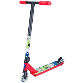 Madd Kick Nuked Pro Complete Scooter - Red/Lime