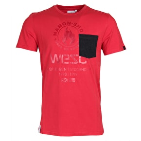 WeSC Logie T-Shirt - True Red