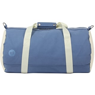 Mi-Pac Canvas Duffle Bag - Blue/Cream