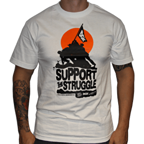 DGK Support the Struggle T-Shirt - White