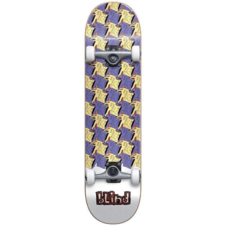 """Blind Tile Style Complete Skateboard 7.75"""" - Purple/Yellow"""