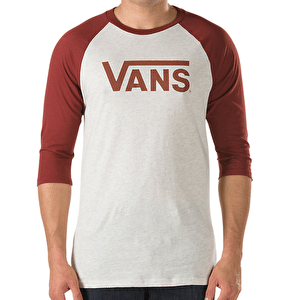 Vans Classic Raglan T-Shirt - Oatmeal Heather/Russet