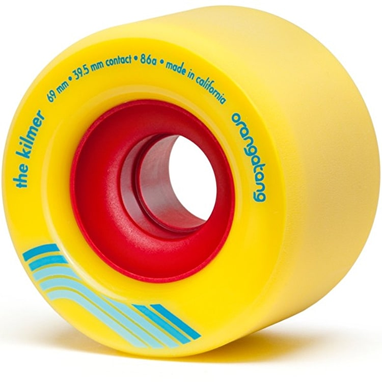 "Orangatang ""Kilmer"" 86A Longboard Wheels - Yellow 69mm"