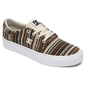 DC Trase TX LE Womens Skate Shoes - Tan/Brown