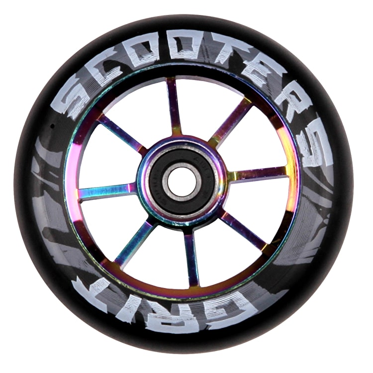 Grit 8 Spoke ACW 100mm Scooter Wheel - Black/Neochrome