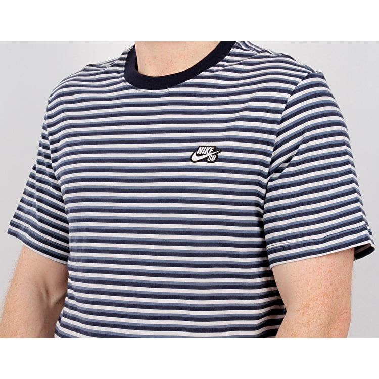 Nike SB Stripe T Shirt - White/Obsidian/White
