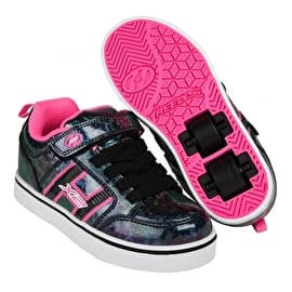 Heelys X2 Bolt Plus Light Up - Black Hologram/Pink