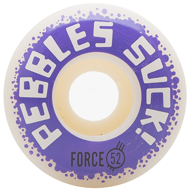Force Pebbles Suck! 2017 Skateboard Wheels - 52mm