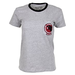Element Panther Ringer Womens T-Shirt - Heather Grey