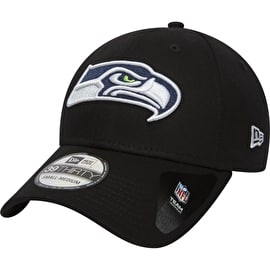 New Era Seattle Seahawks NFL Black Base 39THIRTY Cap - Black