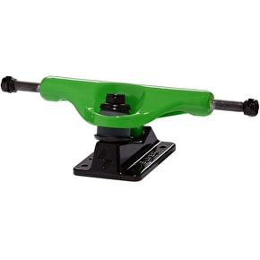 Silver M-Class Skateboard Trucks - Neon Green 8.0
