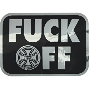 Independent F**k Off Foil Skateboard Sticker