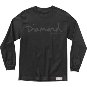 Diamond OG Script Longsleeve T-Shirt - Black
