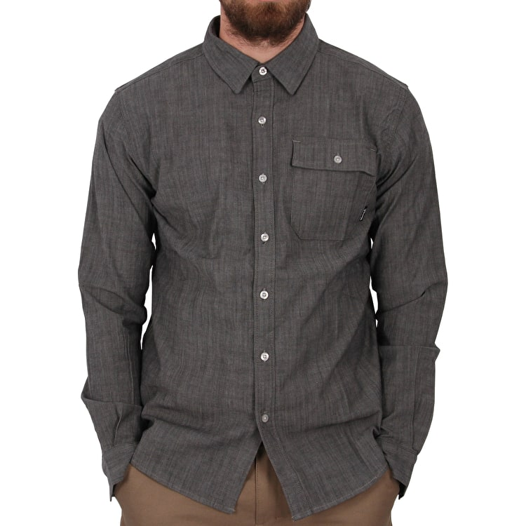 Diamond Supply Chambray Long Sleeve T shirt - Black
