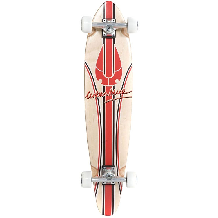 "Urban Blue Red Signature A4 38"" Kicktail Longboard"