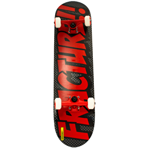 Fracture Comic 3 Skateboard - Grey/Red 7.875