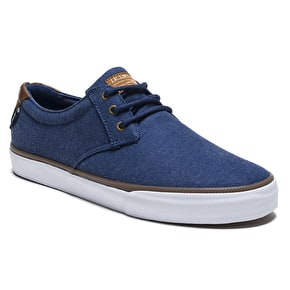 Lakai Daly Skate Shoes - Navy Textile