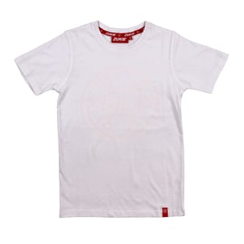 Zukie Globe Tonal Logo Kids T Shirt - White