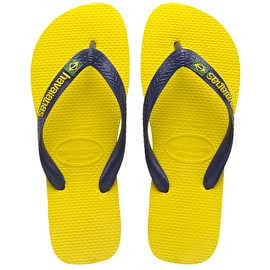 B-Stock Havaianas Brazil Logo - Citrus Yellow Size - Junior UK 12 (Box Damage)