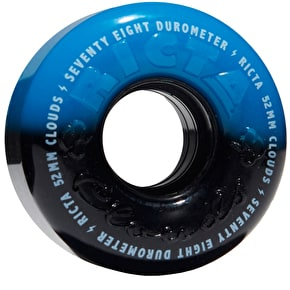 Ricta Cloud Duotones 78a Skateboard Wheels - Black/Blue 52mm