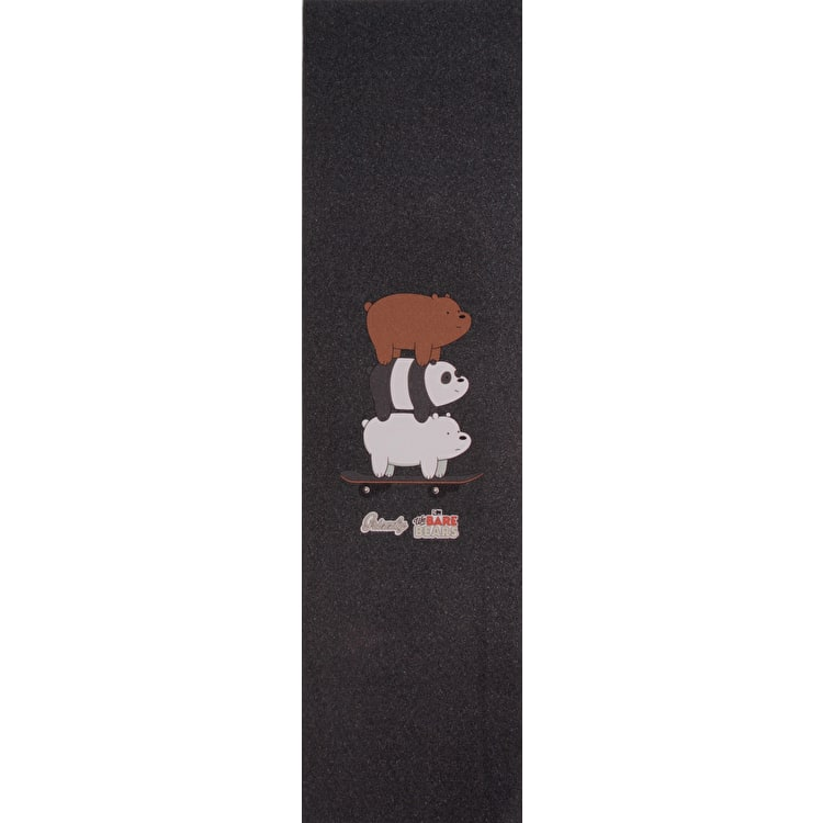 Grizzly X We Bare Bears Stacked Ride Skateboard Grip Tape