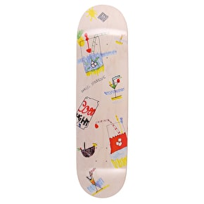 National Skateboard Co Danijel Stankovic X Maxi Skateboard Deck - White Wash Stain - White Wash - 8.25
